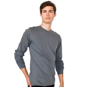 American Apparel Fine Jersey Long Sleeve T-Shirt Thumbnail