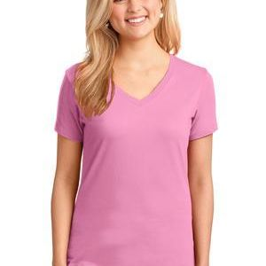 Port & Company Ladies 5.4 oz 100% Cotton V Neck T Shirt Thumbnail