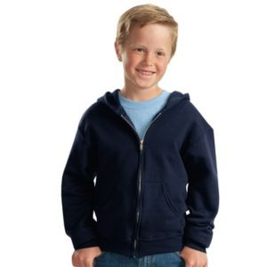 Jerzees Youth Full Zip Hooded Sweatshirt Thumbnail