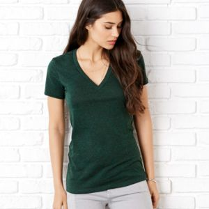 Bella Ladies' Triblend Short-Sleeve Deep V-Neck Tee Thumbnail
