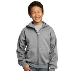Port & Company Youth Full Zip Hooded Sweatshirt Thumbnail