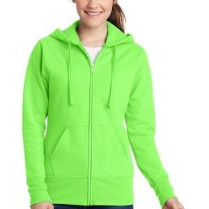 Port & Company Ladies Classic Full Zip Hooded Sweatshirt Thumbnail