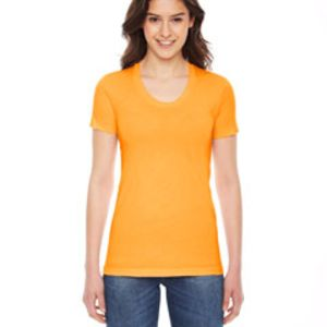 American Apparel Ladies' Poly Cotton Short Sleeve Crewneck Thumbnail