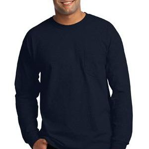 Gildan Ultra Cotton Long Sleeve T Shirt with Pocket Thumbnail