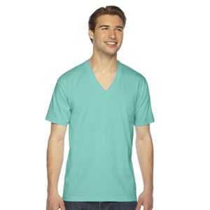 American Apparel Fine Jersey Short Sleeve V-Neck Thumbnail