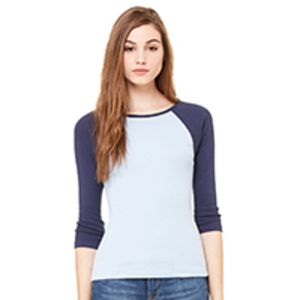 Bella Ladies' 3/4 Sleeve Raglan T-Shirt Thumbnail
