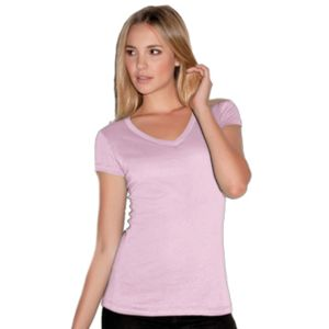 Bella Canvas Ladies' Short-Sleeve V-Neck Cotton Jersey Tee Thumbnail
