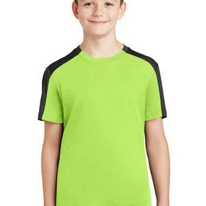 Sport Tek Youth PosiCharge Competitor Sleeve Blocked Tee Thumbnail