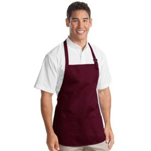 Port Authority Medium Length Apron with Pouch Pockets Thumbnail