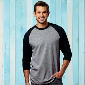 ® Heavy Cotton™ Adult 3/4-Sleeve Raglan T-Shirt Thumbnail