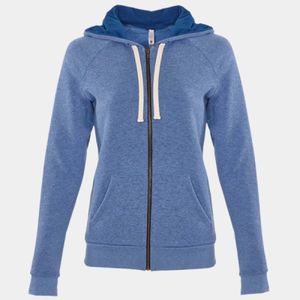 Next Level Women's Raglan Zip Hoodie Thumbnail