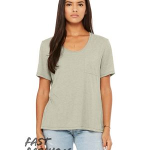 Bella Canvas Fast Fashion Women's Flowy Pocket Tee Thumbnail